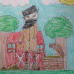 Here is Brother XII on his farm, with his fabulous chest of gold beside him! Wow - what a great drawing!
